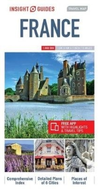 Insight Guides Travel Map France - Map o