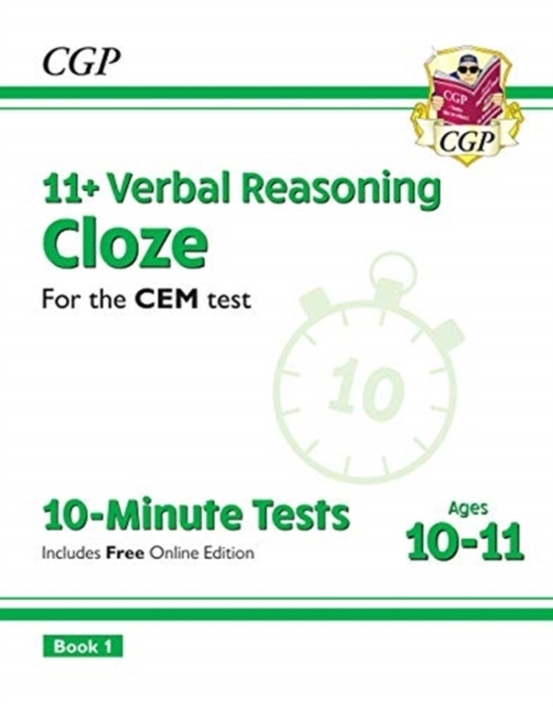 New 11+ CEM 10-Minute Tests: Verbal Reas