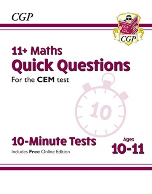 New 11+ CEM 10-Minute Tests: Maths Quick