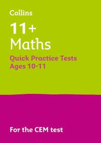 11+ Maths Quick Practice Tests Age 10-11