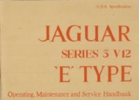 Jaguar Series 3 V12 (US) Handbook A181/2