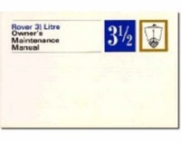 Rover 3.5 Litre Owners Maintenance Manua