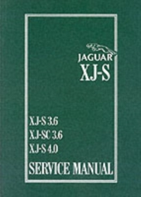 Jaguar XJS 3.6 and 4.0 Litre Service Man