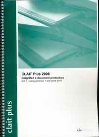 CLAIT Plus 2006 Unit 1 Integrated E-Docu