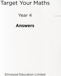 Target Your Maths Year 4 Answer Book