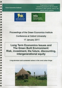 Long Term Economics Issues and the Green