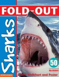 Fold-Out Poster Sticker Book: Sharks