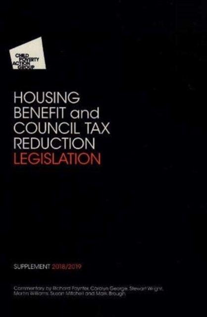 CPAG'S Housing Benefit and Council Tax R