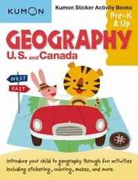 Geography Sticker Activity Book: US and