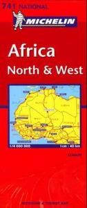 Africa, north and west = Afrique, nord e: motoring and tourist map