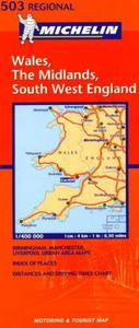Wales, The Midlands, South West England: motoring and tourist map = carte routièr
