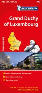 Grand Duchy of Luxembourg - Michelin Nat: motoring and tourist map
