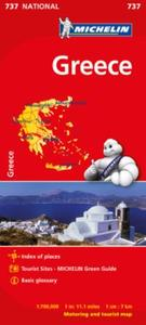 Greece - Michelin National Map 737: motoring and tourist map