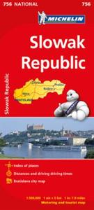 Slovak Republic - Michelin National Map: motoring and tourist map