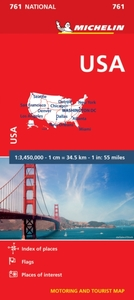 USA - Michelin National Map 761