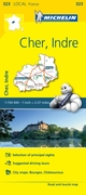 Cher, Indre - Michelin Local Map 323