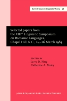 Selected papers from the XIIIth Linguist