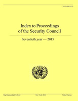 Index to proceedings of the Security Cou